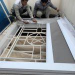 Lắp đặt bàn giao bạt cuốn cao cấp cho giếng trời ở Hà Nội