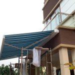 Lắp đặt bàn giao mái hiên di động Nắng Xinh cho chủ nhà ở Hà Nội